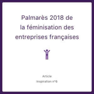 Palmarès 2018 de la féminisation des entreprises françaises